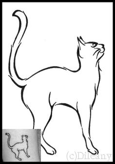 I've been thinking about getting a tattoo for awhile, and tonight I was toying around with ideas and figures of cats and drew up this. It still needs a bit of tweaking (the hip on the left side is ...