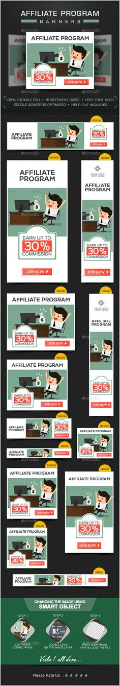 Web Banner Design for Affiliate Program Template PSD | Buy and Download: http://graphicriver.net/item/web-banner-design-for-affiliate-program/8980585?WT.ac=category_thumb&WT.z_author=doto&ref=ksioks