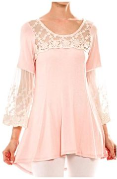 Voll Pink Lace Top