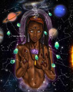 Gabriella D art. El arte y un amor Black Love Art, Black Girl Art, Black Girl Magic, Art Girl, Black Goddess, Goddess Art, African American Art, African Art, Arte Black