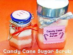 Candy Cane Sugar Scrub, holiday, Bath & Body, DIY
