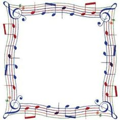 Paper Embroidery Hobbies Embroidery Design: Music Note Border from Dakota Collectibles - Borders For Paper, Borders And Frames, Paper Embroidery, Machine Embroidery, Music Border, Borders Free, Border Embroidery Designs, Embroidery Patterns, Music Crafts