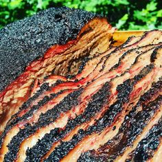 Check the smoke ring and amazing bark on this brisket. I want two sammiches from that bad boy! Pic taken by @four41south -  Another shot of Today's brisket!  I am in love with the bark my new rub puts on these things!  Amazing Bark and smoke ring!  Can't wait to see everyone tomorrow and feed the masses! . . . #Grill #Grilling #BBQ #Barbecue #FoodPorn #GrillPorn #Beef #BeefPorn #brisket #Food #FoodPhotography #foodgasm #foodography #instafood #foodiegram #foodie #foodstagram #foodpics #Meat…