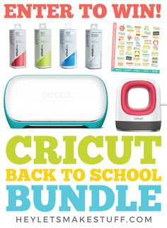 Diy Crafts For Girls, Fun Crafts, Cricut Tutorials, Cricut Ideas, Diy Back To School, Cricut Creations, Cricut Vinyl, Diy Projects To Try, Giveaway