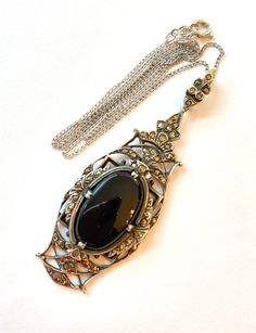 Jewel Tie 925 Sterling Silver with Gold-Toned Oklahoma State U Black Leather Oval Key Chain