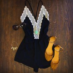 Love Quest Lace Romper