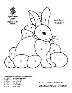 Free Stained Glass Pattern 2035-Easter Bunny