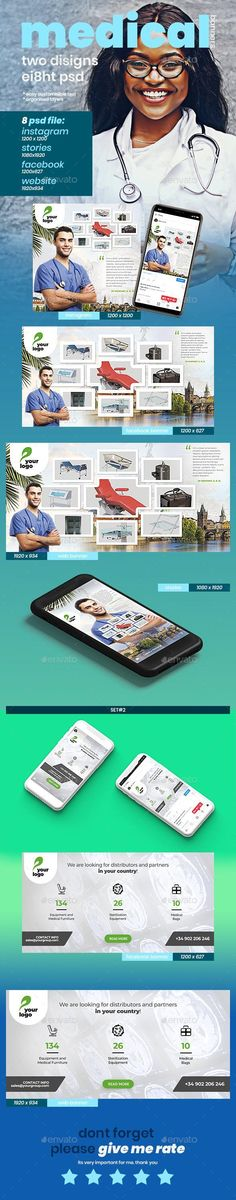 Buy Medical Web Social Banner Set - 8 Banners by PapaAlex on GraphicRiver. Web Design, Graphic Design, Web Banners, Custom Fonts, Banner Template, Banner Design, Are You Happy, Medical, Photoshop