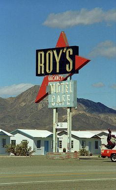 """Route 66 - Roy's of Amboy, California. """"The Fine Art Photography of Frank Romeo."""""""