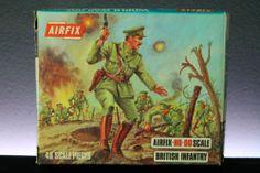 AIRFIX 1/72 BRITISH INFANTRY WW I PLASTIC SOLDIERS ARMY MEN VINTAGE BOX SET
