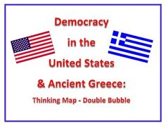 Democracy in the Unites States & Greece Thinking Map: Doub