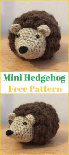 Crochet Mini Hedgehog Amigurumi Free Pattern - Crochet Hedgehog Free Patterns