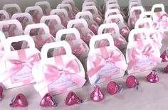 Elegant wedding favor gift boxes with Light pink satin ribbon bow and custom tag. Personalized bonbonniere for gifts and favors for your guests. #welcomebox #giftbox #personalizedgifts #weddingfavor #weddingbox #weddingfavorideas #bonbonniere #weddingparty #sweetlove #favorboxes #candybox #elegantwedding #partyfavor #weddingwelcome #pinkwedding #lightpink