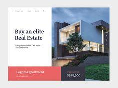Luxury Real Estate Website – Property Listings by Yalantis Real Estate Logo Design, Real Estate Branding, Website Design Layout, Real Estate Advertising, Real Estate Marketing, Real Estate Landing Pages, Mise En Page Web, Luxury Website, Design Inspiration