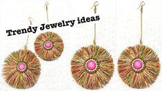 How to Make Beautiful Silk Thread Earring at Home // diy // silk thread tassel earrings Art & craft studio teaches you about Jewelry ideas, Jewelry ha. Diy Tassel Earrings, Silk Thread Earrings, Paper Earrings, Thread Jewellery, Earrings Handmade, Crochet Earrings, Crochet Jewellery, Trendy Jewelry, Diy Jewelry