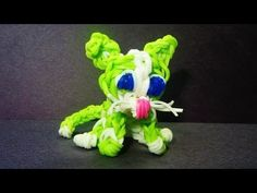 Rainbow Loom: CAT Charm:  How to make a Rainbow Loom Cat Tutorial / Design