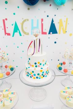 Confetti themed First Birthday Party - Lifes Little Celebration