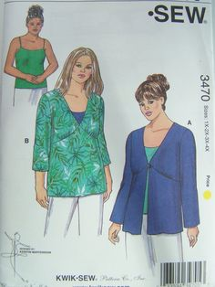 Kwik Sew 3470 Sewing Pattern  Misses'  Plus Size by WitsEndDesign, $8.00
