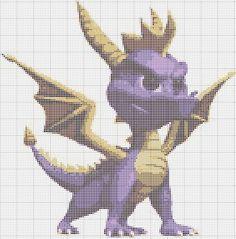 Spyro cross stitch pattern