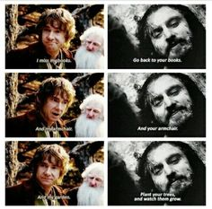 He remembered everything Bilbo said...*sniff*😭😭