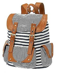 Get Naya Rivera's look from Latina Magazine cover: If you are looking for a new carry-all for summer, snatch up this striped backpack from Call It Spring. It will be great for a day at the beach or weekend errands. ($40, jcpenney.com
