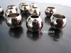 6pcs Silver End Cap 8.5mm and 5.5mm - Finding Silver Round Ball Spacers Beads End Cap with Extra Very Large Hole 12mm x 10mm by heaedges on Etsy https://www.etsy.com/listing/128404246/6pcs-silver-end-cap-85mm-and-55mm
