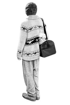 This incredible graphite art by Brian Boulton, you can see the purl ribbing on the sweater. So fantastic.