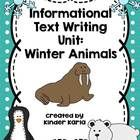 This freebie includes writing prompts for penguins, walruses, and polar bears.    Designed for a 3 week unit on Arctic/Antarctic (Winter) animals. ...