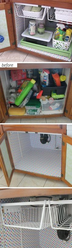 Under the Sink Makeover | Easy Storage Ideas for Small Spaces | DIY Organization…
