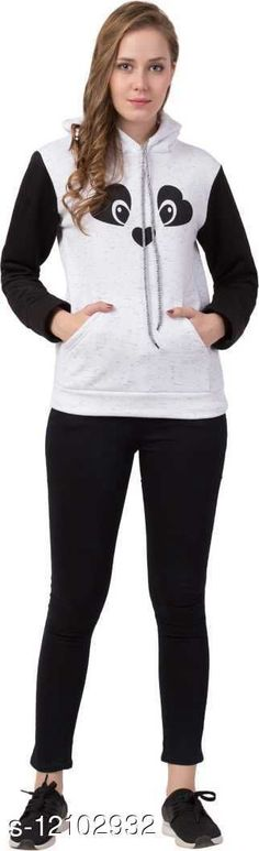 Sweatshirts Vesture Forge Trendt Stylish Hoodie For Women Fabric: Fleece Sleeve Length: Long Sleeves Pattern: Printed Multipack: 1 Sizes: L (Bust Size: 38 in, Length Size: 23 in)  Country of Origin: INDIA Sizes Available: S, M, L, XL   Catalog Rating: ★3.9 (411)  Catalog Name: Stylish Feminine Women Sweatshirts CatalogID_2311443 C79-SC1028 Code: 053-12102932-138