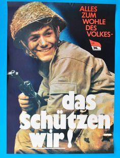 DDR Plakat | NVA Alles z. Wohle des Volkes 1981