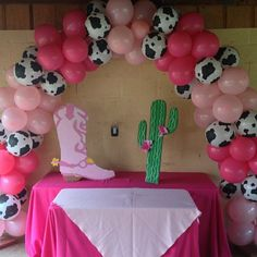 Balloon Arch and Themed Balloons for party. done by: Just 2 Party Just 2 Party is dedicated to decorating your events,entertainment and the best party rentals in town! http://www.just2party.com