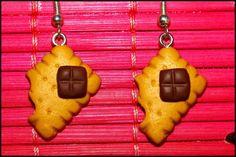 boucles d'oreilles biscuits - boucle d'oreille - Payro-Fimo - Fait Maison