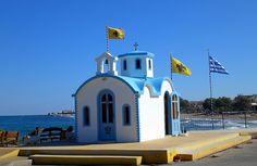 Chapel at the beach in Analipsi, Crete by Tiensche, via Flickr
