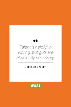 """""""Talent is helpful in writing, but guts are absolutely necessary."""" - Jessamyn West   Get your creative juices flowing w/ AWAI writing prompts. Get writing prompts, copywriting training, freelance writing support, and more at awai.com!   #awai #writerslife #freelancewriting #copywriting #writing Writing Quotes, In Writing, Writing Skills, Writing Prompts, Creative Writing Inspiration, Freelance Writing Jobs, Writing Assignments, New Career, Copywriting"""