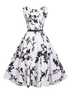 Women Dress Print Floral Vintage Sleeveless 2016 New Style Summer Retro… Dresses For Teens, Modest Dresses, Maternity Dresses, Cheap Dresses, Summer Dresses, Maternity Wear, Elegant Ball Gowns, Elegant Dresses, Vintage Dresses