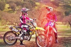 motocross, boy, and couple Bild