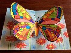 Motýli – prostorový obrázek