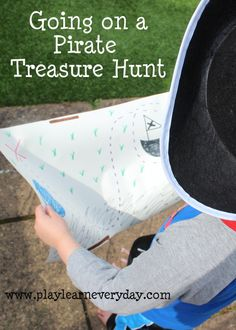 A fun way to spend a day preparing for and going on our own little pirate treasure hunt.