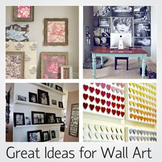 Great Ideas for Amazing Wall Art - Love Chic Living