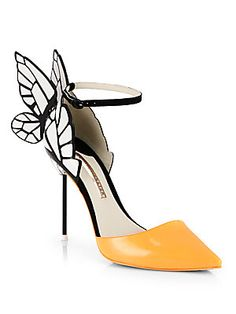 Sophia Webster Clara Patent Leather Butterfly d'Orsay Pumps