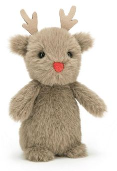 High quality soft toy animal Fluffy Reindeer by Jellycat. Jellycat, Red Nose, Pet Toys, Reindeer, This Or That Questions, Teddy Bears, Animals, Garden, Christmas