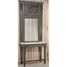 Antique and Vintage Painted Furniture  | Neoclassical 19th Century Italian Console / Trumeau | www.inessa.com