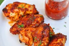 alitas de pollo al ketchup