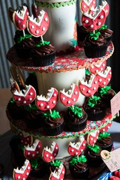 Super Mario Cupcakes, Super Mario Party, Cupcake Party, Wedding Cupcakes, Party Cakes, Cupcake Cakes, Cupcake Ideas, Cookie Ideas, Mario Bros Kuchen