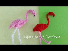 I am back with a new pipe cleaner craft. Today, i am doing a pipe cleaner flamingo! Craft Stick Crafts, Crafts To Do, Crafts For Kids, Arts And Crafts, Diy Crafts, Pipe Cleaner Art, Pipe Cleaner Animals, Pipe Cleaners, Projects For Kids