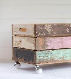 Décoration avec des caisses en bois