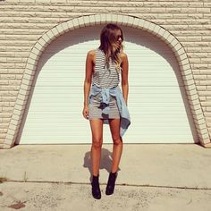 #stealthelook #look #looks #streetstyle #streetchic #moda #fashion #style #estilo #inspiration #inspired #vestido #Listrado #camisa #Jeans #listras #Preto