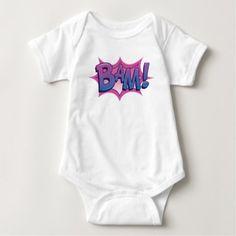 Comic BAM! Baby Bodysuit  $14.95  by Comic_Peril  - cyo diy customize personalize unique