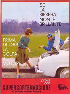 Pubblicità Super Cortemaggiore 1960